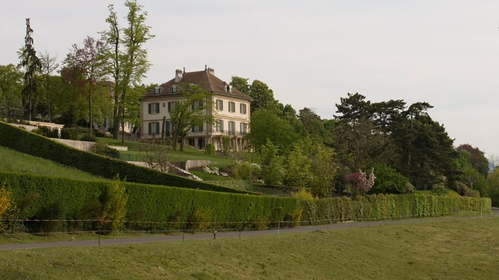 The house on Lake Geneva where Mary Shelley began writing Frankenstein in the summer of 1816.