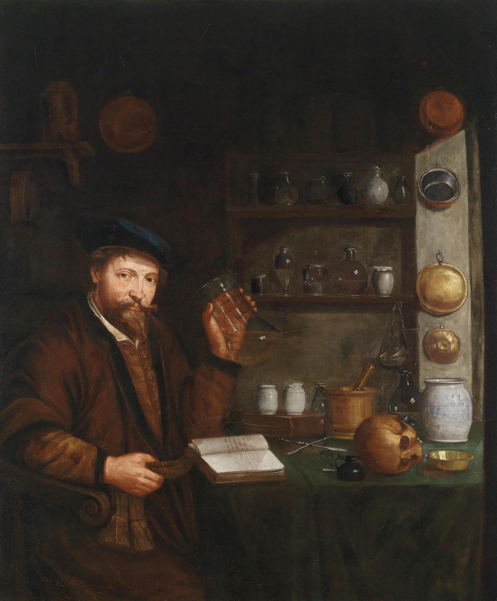 Johann Cordua (1630-1702), 'Doctor in his study'