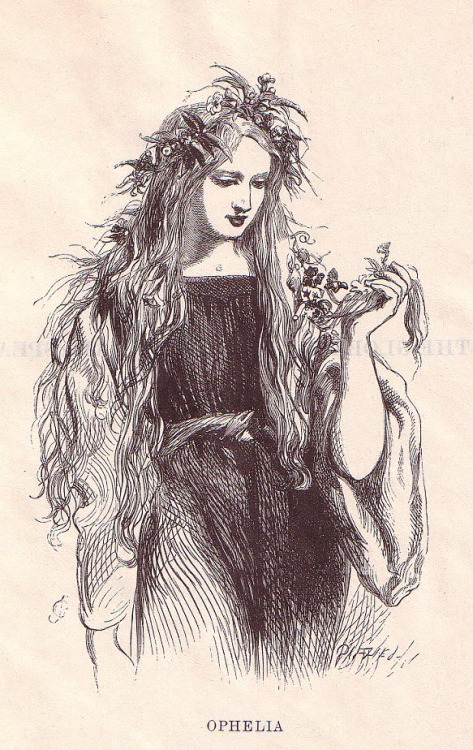 Illustration of Ophelia